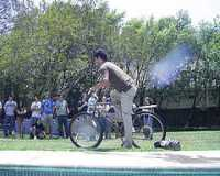 [Adult Pool Party games Cycling