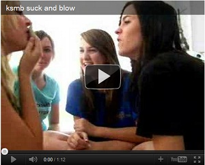 Girl Playing Suck and Blow in Video