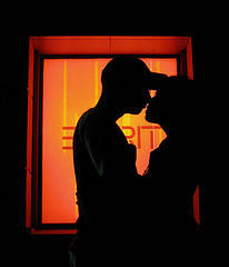 7 Minutes in Heaven A Couple kissing in a dark place