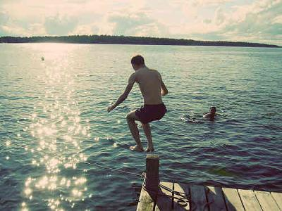 Dare: Jump off the dock