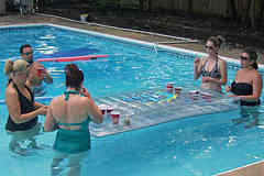 Adult pool party games adult playing pool pong