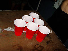 [Adult Pool Party games Cups in a pyramid Shape