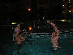 adult Pool party couples games Couples ready for a totem fights