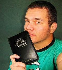 Guy Holding a Bible