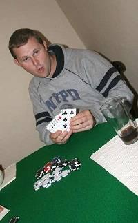 A Guy Playing Irish Poker