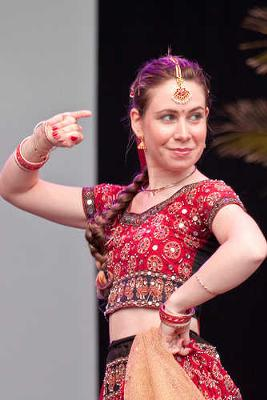 Beautiful Girl Performing Traditional Indian Dance