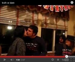 Guy and girl kissing dare video