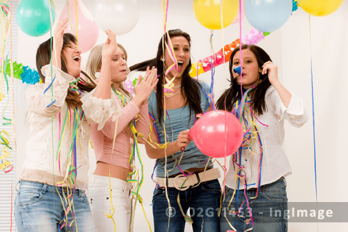 Girls Enjoying at party