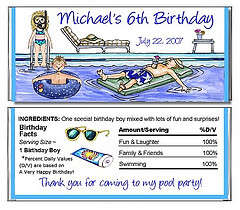 A Funny Pool Party Invitation
