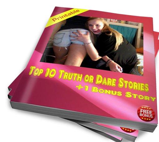 Truth or Dare magzine girl with sexy butt