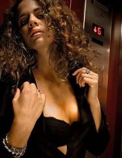 Sexy girl in elevators