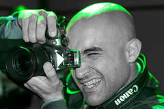A guy capturing party moments with his camera