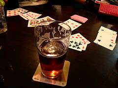 [Drinking games beer poker