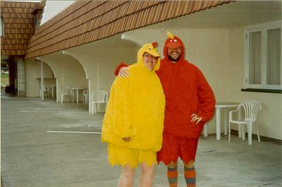 Dare: Go to a public place in chicken suits