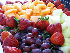 Fresh and colorful basket of fruits