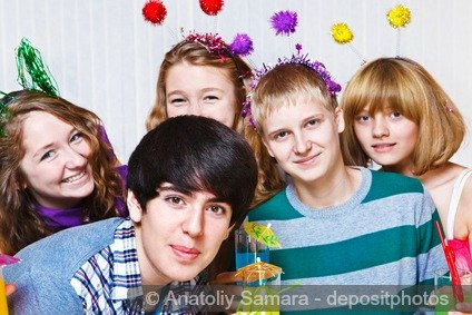 A group of Christian teenagers at a party