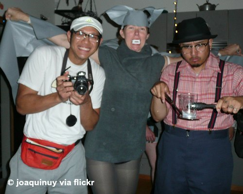 Guys in funny costumes