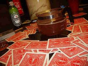 Beer and Playing cards for the game