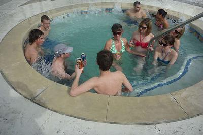 Play Truth or Dare in a Hot Tub!