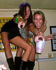 beautiful ladies enjoying and yelling at party