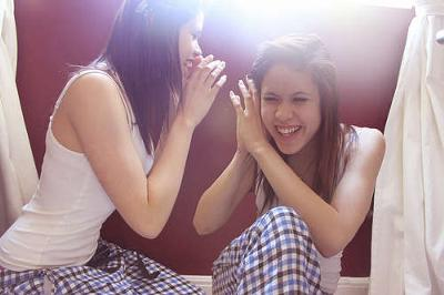 Look out for girls whispering in truth or dare!