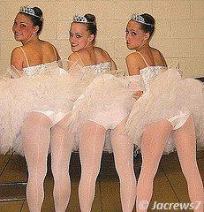 Girls dressed up like ballerina
