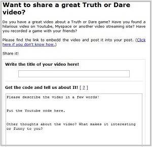 truth or dare questions submit a video